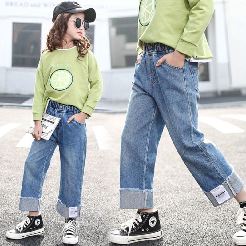 Quần jean cho bé gái 12 tuổi dáng dài